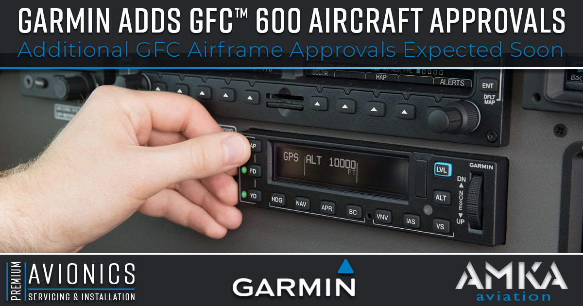 AMKA Aviation, Garmin Gets STC Expansion For GFC 600 Autopilot for Cessna 208 Grand Caravan Series