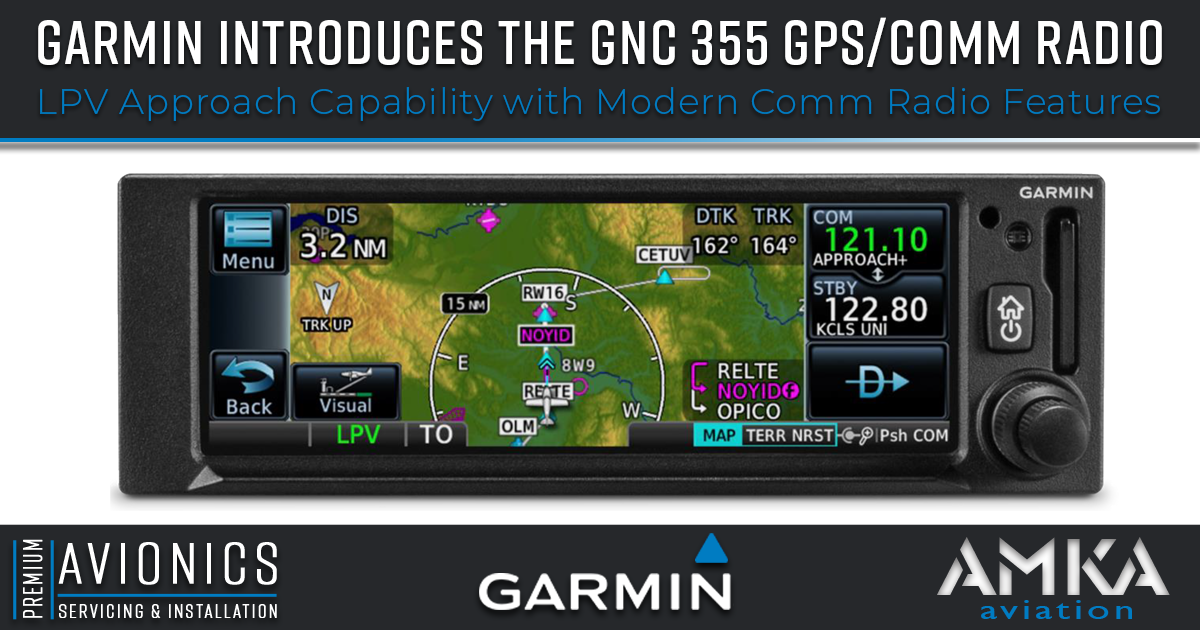 Garmin Introduces the GNC® 355 GPS/Comm Radio